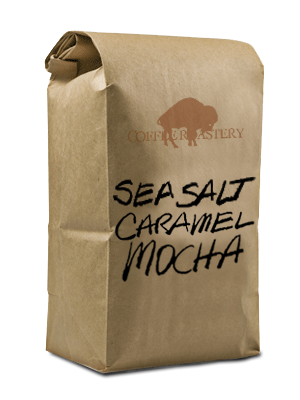 Bag of Sea Salt Caramel Mocha Coffee